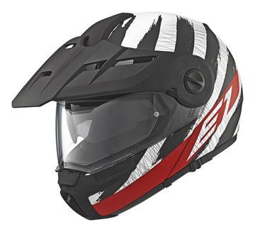 Resim Schuberth E1 Hunter Çeneden Açılır Motosiklet Kaskı Kırmızı