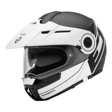 Resim Schuberth E1 Radiant Çeneden Açılır Motosiklet Kaskı Beyaz