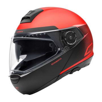 Resim Schuberth C4 Resonance Çeneden Açılır Motosiklet Kaskı Kırmızı