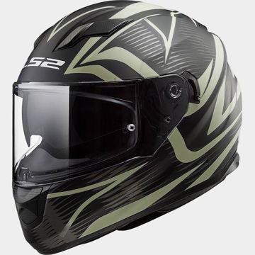 Resim LS2 FF320 Evo Jink Kapalı Motosiklet Kaskı Mat Siyah Neon