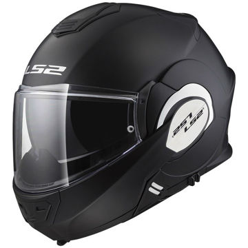 Resim LS2 FF399 Valiant Kapalı Motosiklet Kaskı Mat Siyah