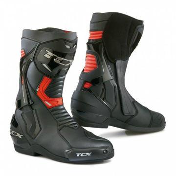 Resim TCX ST Fighter Motosiklet Çizmesi Siyah Kırmızı