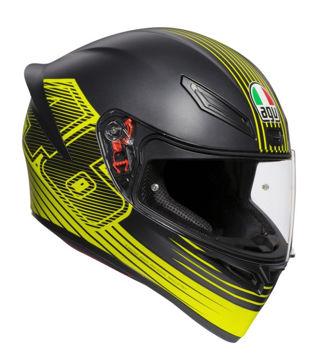 Resim AGV K1 Top Edge 46 Kapalı Motosiklet Kaskı