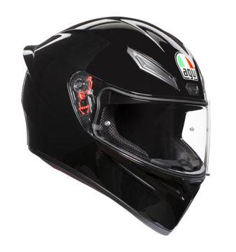 Resim AGV K1 Kapalı Motosiklet Kaskı Parlak Siyah