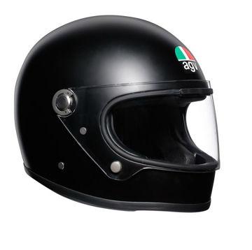 Resim AGV X3000 Retro Kapalı Motosiklet Kaskı Mat Siyah