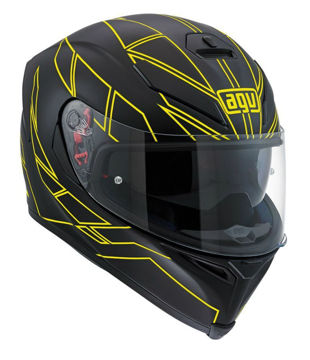 Resim AGV K5 S Motosiklet Kaskı Multi Plk Hero Siyah Sarı