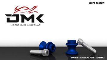 Resim DMK Kawasaki ve Suzuki Sehpa Aparatı 10 mm Mavi