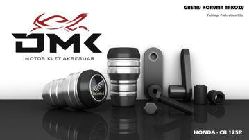 Resim DMK Honda CB 125R 2018- Koruma Takozu Gümüş