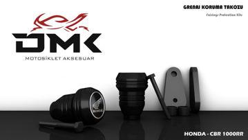 Resim DMK Honda CBR 1000RR 2005-2008 Koruma Takozu Siyah