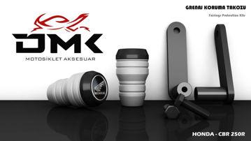 Resim DMK Honda CBR 250R 2011-2017 Koruma Takozu Mat Gri