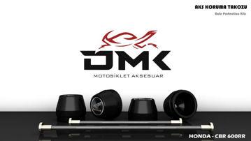 Resim DMK Honda CBR 600RR 2005-2012 Aks Koruma Takozu Siyah