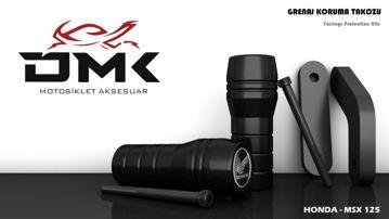 Resim DMK Honda MSX 125 Koruma Takozu Siyah