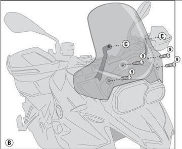 Resim Givi D5107KİT Bmw F700GS (13-15) Motosiklet Rüzgar Siperliği Bağlantısı