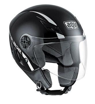 Resim AGV Blade Solid Siyah Yarım Motosiklet Kaskı