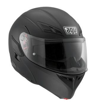Resim AGV Compact ST Solid Çene Açılır Motosiklet Kaskı Mat Siyah