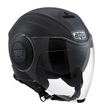 Resim AGV Fluid Solid Mat Siyah Açık Motosiklet Kaskı