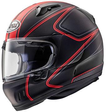Resim Arai Renegade-V Diablo Kapalı Motosiklet Kaskı Mat Siyah Kırmızı