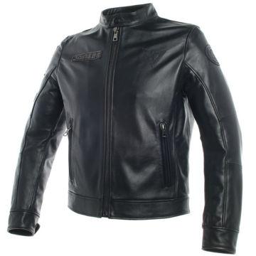Resim Dainese Legacy Retro Deri Motosiklet Ceketi Siyah