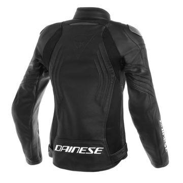 Resim Dainese Racing 3 Kadın Deri Motosiklet Ceketi Siyah