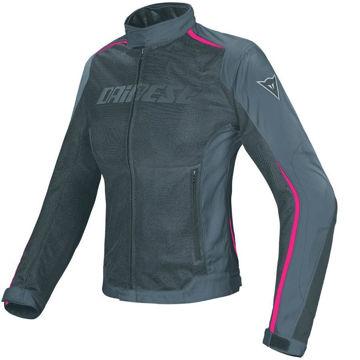 Resim Dainese Hydra Flux D-Dry Kadın Motosiklet Ceketi Siyah Fuşya