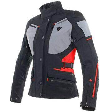 Resim Dainese Carve Master 2 Gore-Tex Kadın Motosiklet Montu Siyah Gri Kırmızı