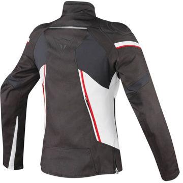 Resim Dainese Stream Line D-Dry Kadın Motosiklet Montu Siyah Beyaz Kırmızı