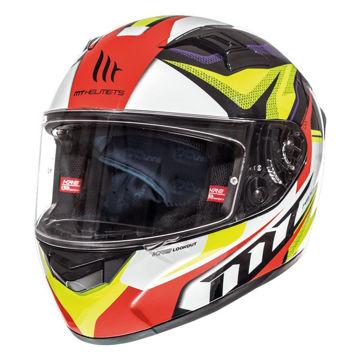 Resim MT Kask KRE Lookout G4 Kapalı Motosiklet Kaskı Neon Sarı