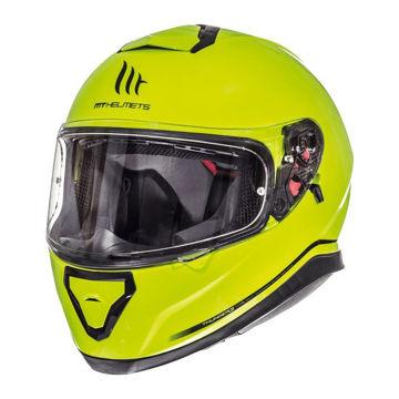 Resim MT Kask Thunder 3 Kapalı Motosiklet Kaskı Neon Sarı