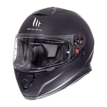 Resim MT Kask Thunder 3 Kapalı Motosiklet Kaskı Mat Siyah