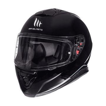 Resim MT Kask Thunder 3 A1 Kapalı Motosiklet Kaskı Parlak Siyah