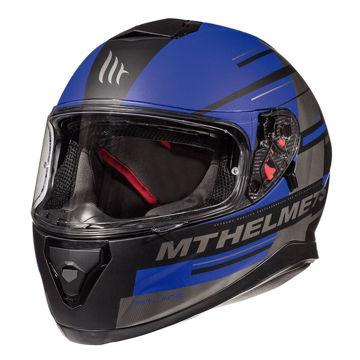 Resim MT Kask Thunder 3 Pitlane C7 Kapalı Motosiklet Kaskı Mat Siyah Mavi
