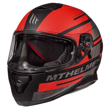 Resim MT Kask Thunder 3 Pitlane C5 Kapalı Motosiklet Kaskı Mat Siyah Kırmızı