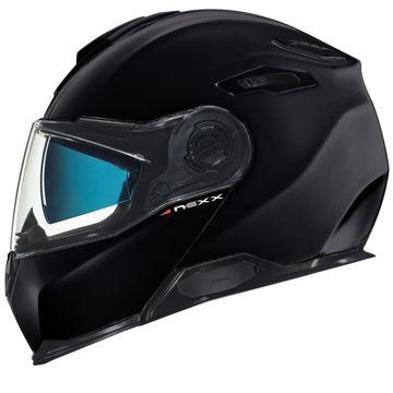 Resim NEXX X.Vilitur Çeneden Açılır Motosiklet Kaskı Siyah