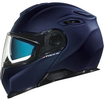 Resim NEXX X.Vilitur Çeneden Açılır Motosiklet Kaskı Mat Mavi