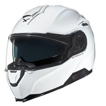 Resim NEXX X.Vilitur Çeneden Açılır Motosiklet Kaskı Beyaz