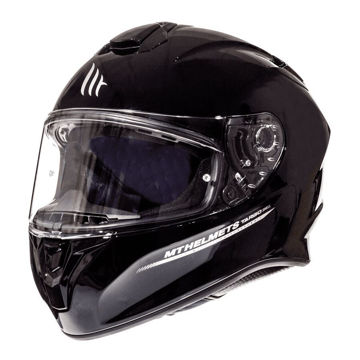 Resim MT Kask Targo Solid A1 Kapalı Motosiklet Kaskı Parlak Siyah