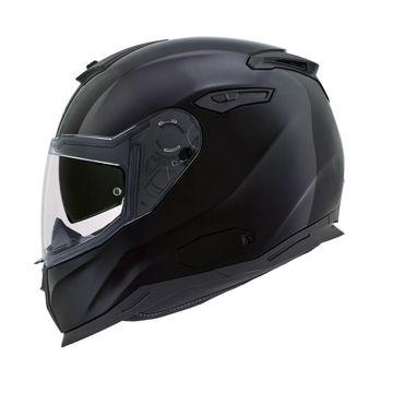 Resim NEXX SX100 Kapalı Motosiklet Kaskı Parlak Siyah