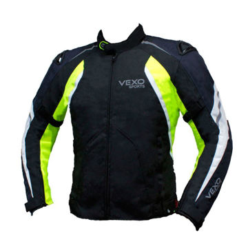 Resim VEXO Satürn Mevsimlik Motosiklet Montu Siyah Mavi Sarı