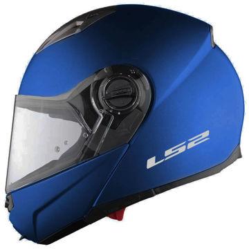 Resim LS2 Guroni Çene Açılır Motosiklet Kaskı Mat Mavi