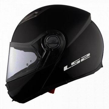 Resim LS2 Guroni Çene Açılır Motosiklet Kaskı Mat Siyah