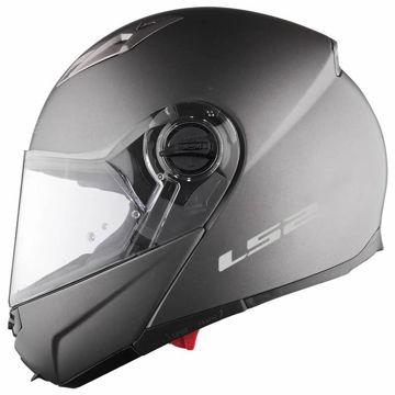 Resim LS2 Guroni Çene Açılır Motosiklet Kaskı Titanyum
