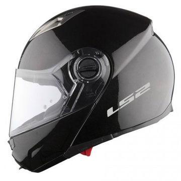Resim LS2 Guroni Çene Açılır Motosiklet Kaskı Siyah