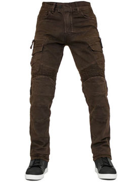 Resim The Biker Jeans Cotton Air Flexi Motosiklet Pantolonu Koyu Kahve
