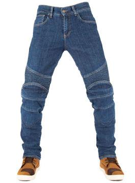 Resim The Biker Jeans Dual Core Flexi Blue Kot Motosiklet Pantolonu