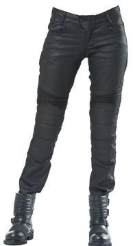 Resim The Biker Jeans Black Iron Flexi Kadın Motosiklet Pantolonu Siyah