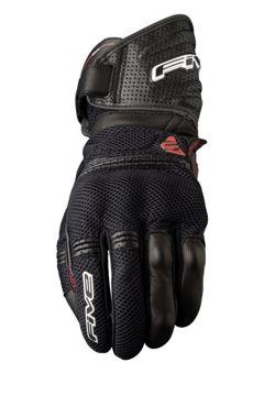 Resim Five Gloves GT2 Air Yazlık Motosiklet Eldiveni Siyah