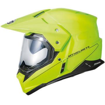 Resim MT Kask Synchrony Enduro Motosiklet Kaskı Neon Sarı