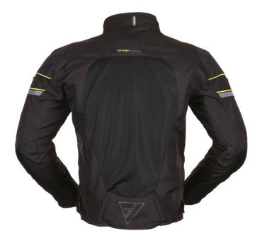 Resim Modeka Upswing Motosiklet Yazlık File Ceket Siyah Sarı
