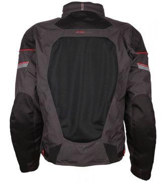 Resim Modeka Upswing Motosiklet Yazlık File Ceket Siyah Gri