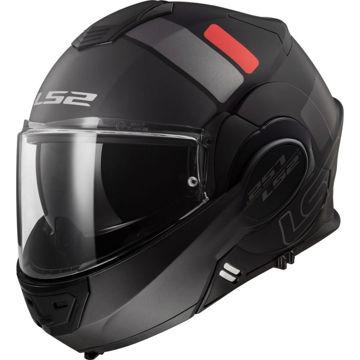 Resim LS2 FF399 Valiant Kapalı Motosiklet Kaskı Prox Siyah Mat Titanyum